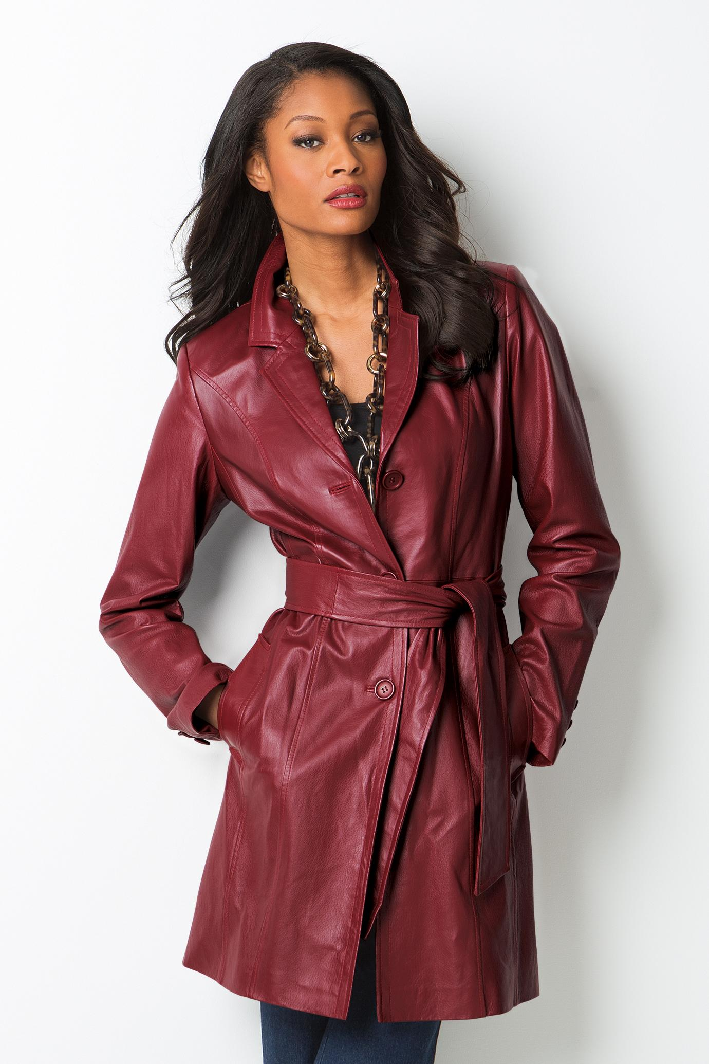 MetroStyle Belted Leather Trench (metrostyle.com, $140)