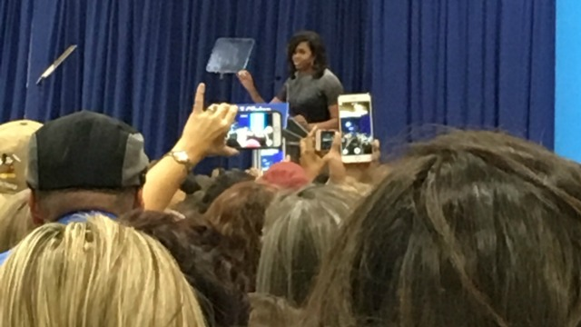 Michelle Obama speaking at Clinton rally
