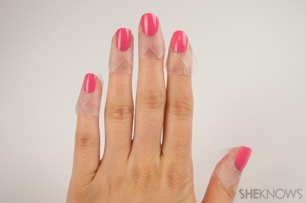 Middle ombré nails