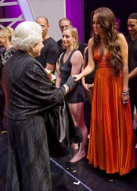 Miley meets the Queen