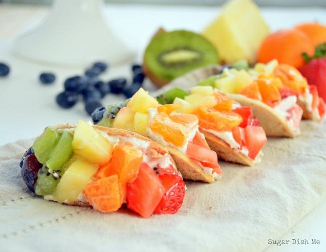 Mini fruit tacos