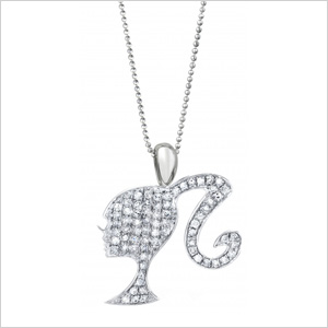Moissanite Sterling silhouette necklace