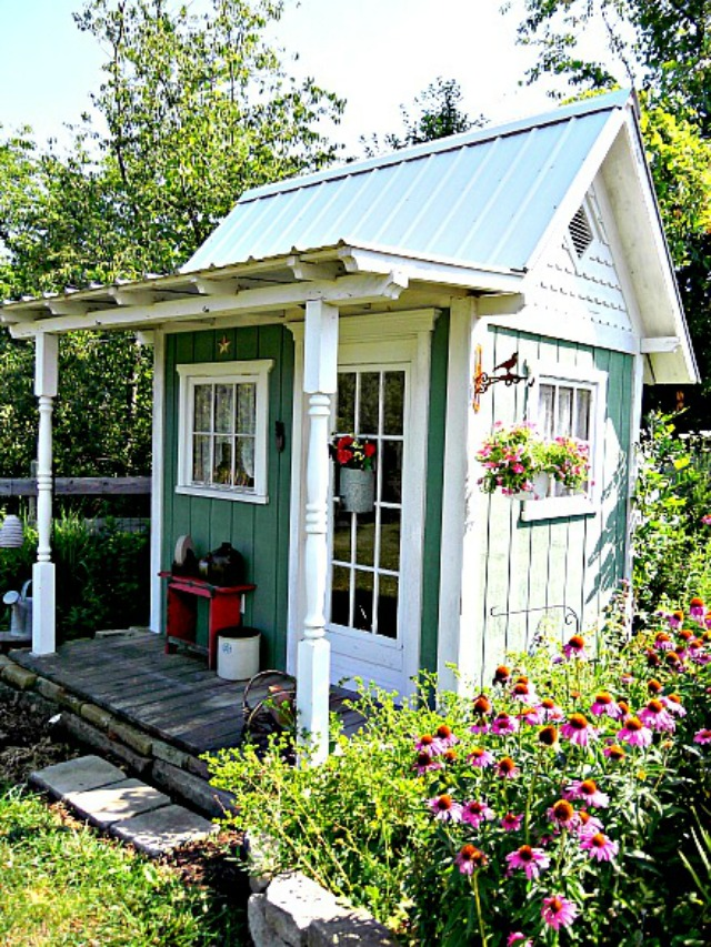Mom garden shed via What's Old is New