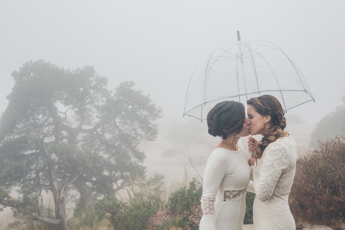 Monica and Angel Arizona lesbian wedding picture