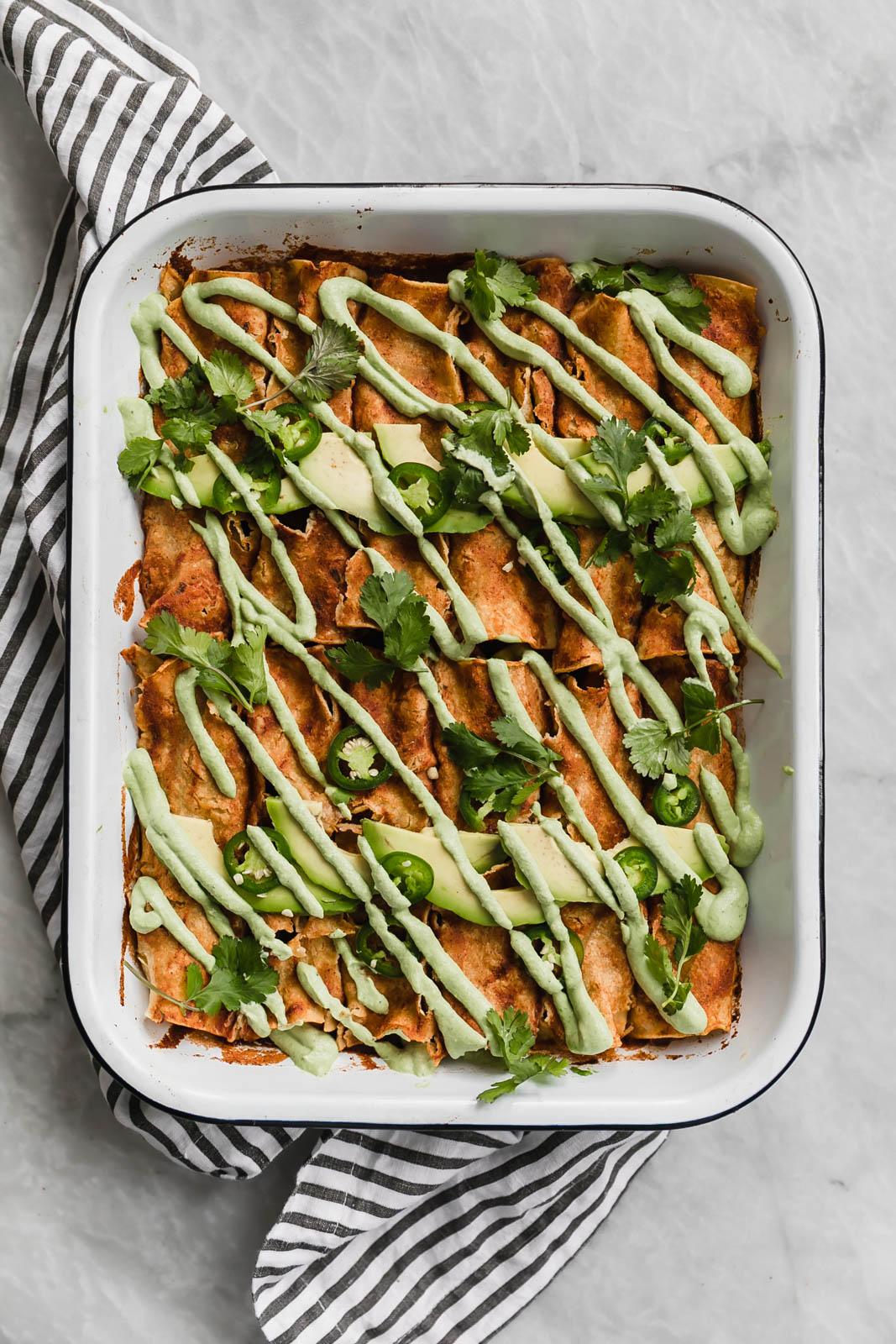 Vegan butternut squash enchilada