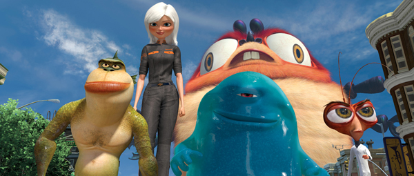 Reese leads the way to save the Earth in Monsters vs. Aliens