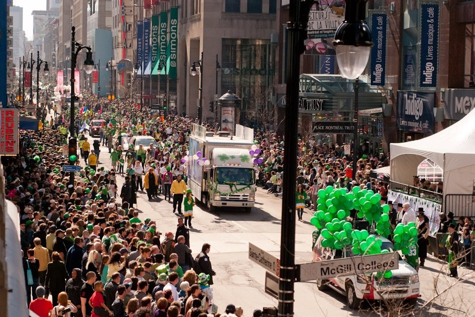 St. Patrick's Day Parade in Montreal