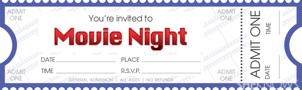 photograph relating to Free Printable Movie Tickets identify Deliver your private video clip night time tickets SheKnows