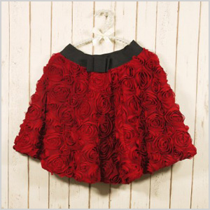 My Bonnie Red Rose Skirt