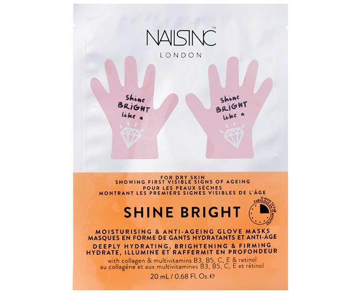 Nails Inc. Shine Bright Moisturizing & Anti-Aging Hand Mask