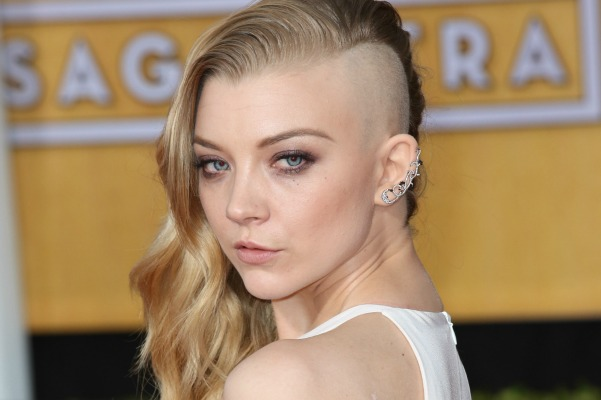 Natalie Dormer and stars with half-shaved hairstyles