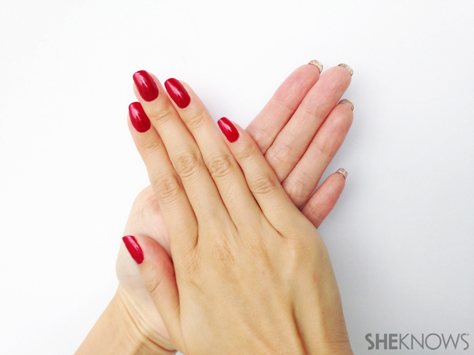 Flip Manicure For Natural Nails