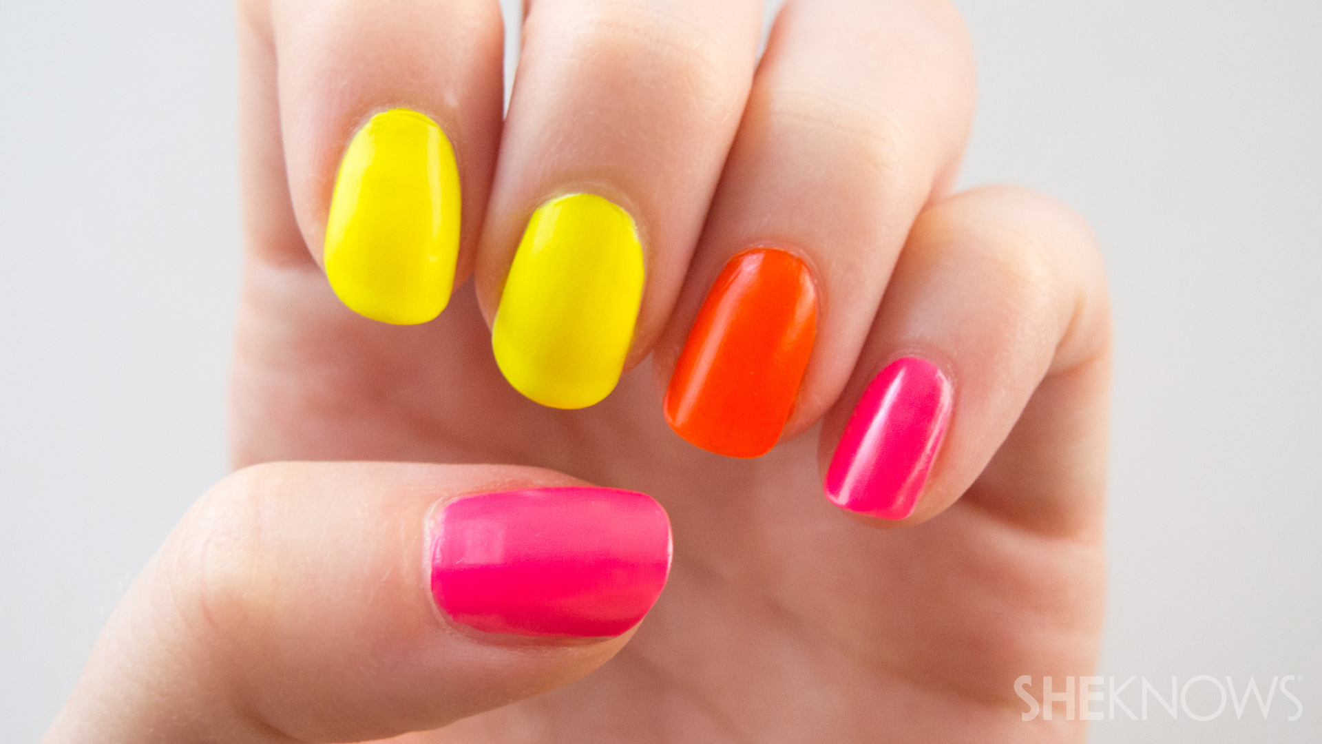 Image result for neon polish for manicure