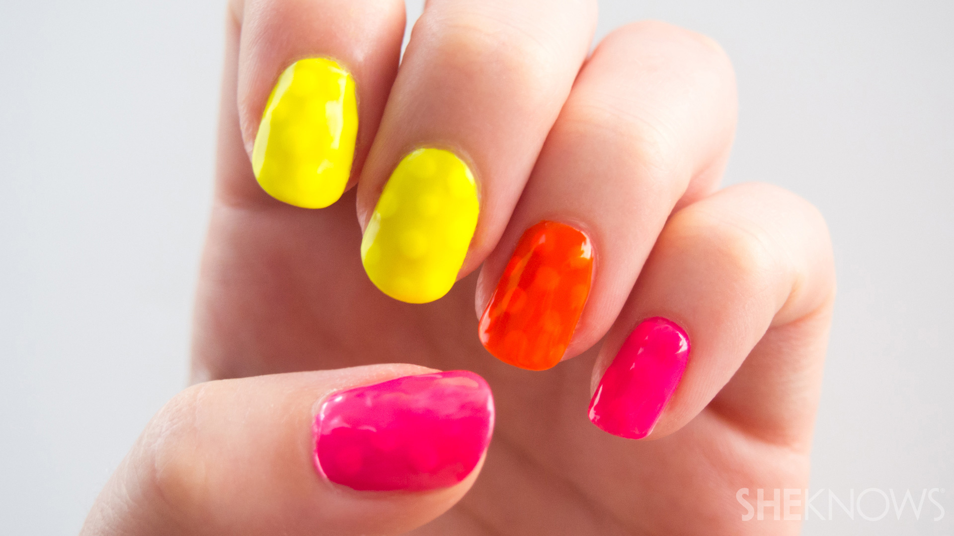 The secret to neon nail polish