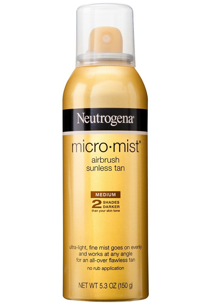 Best Under-$20 Drugstore Self-Tanners: Neutrogena Micro Mist Airbrush Sunless Tan | Summer Skincare