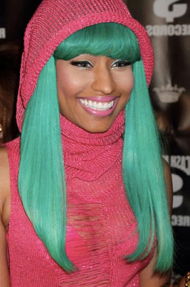 Nikki Minaj's green hair