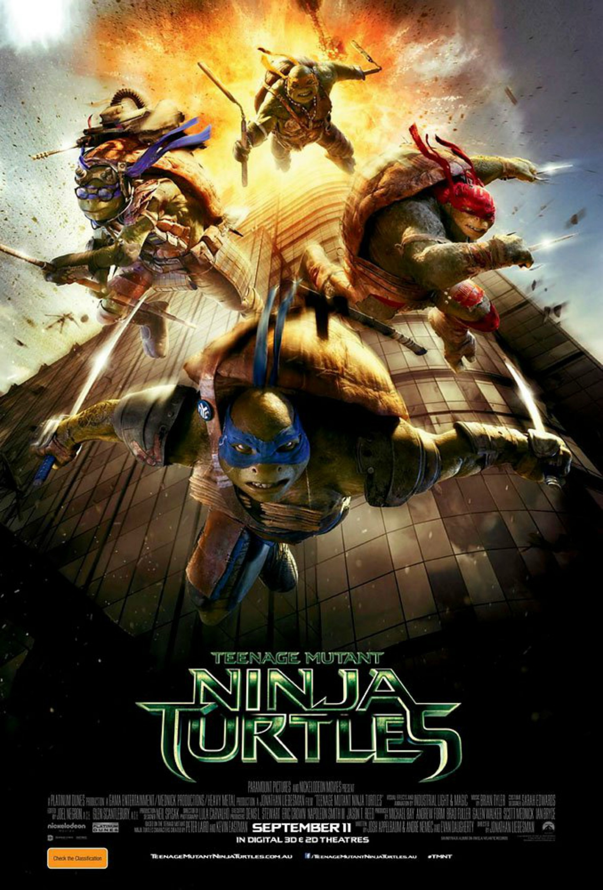 Teenage Mutant Ninja Turtles Australian poster