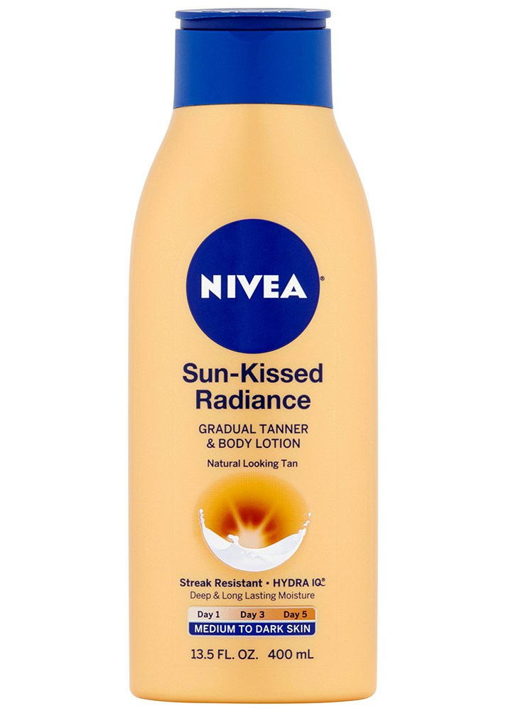 Best Under-$20 Drugstore Self-Tanners : Nivea Sun-Kissed Radiance Gradual Tanner & Body Lotion | Summer Skincare