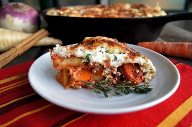 root vegetable baked lasagna