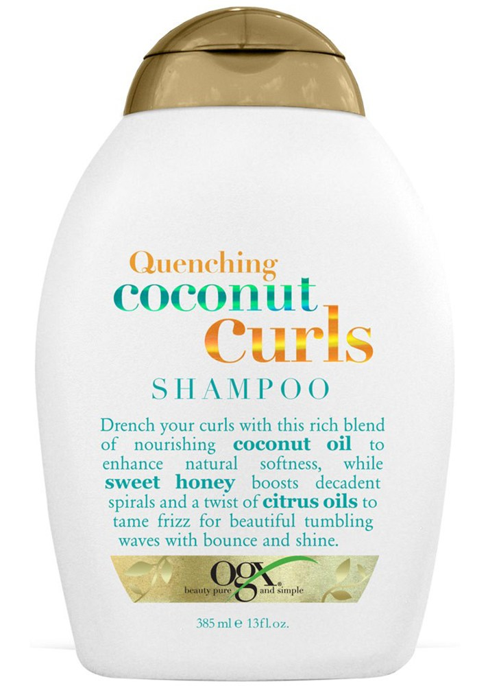 Best Shampoos That Actually Smooth Frizzy, Curly Hair:OGX Coconut Curls Shampoo | Summer Hair Care 2017