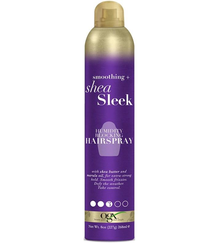 Insanely Cool Under $5 Beauty Products at Ulta: OGX Smoothing + Shea Sleek Humidity Blocking Hairspray   Summer Make up