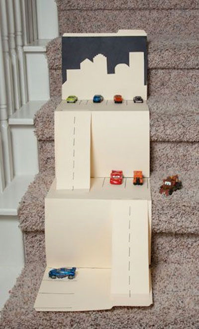Office supplies race track