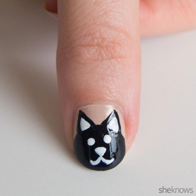 Onyx Feline Step 4: Face on