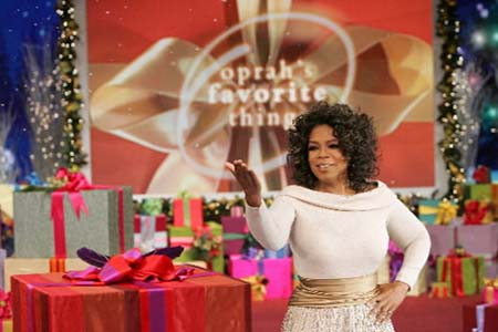Oprah unveils Oprah's Ultimate Favorite Things 2010