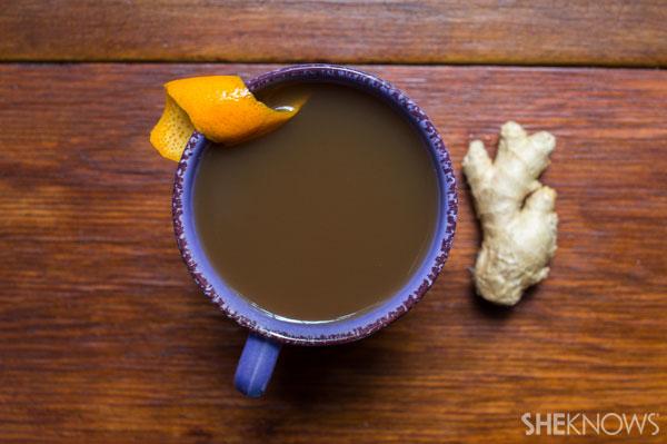 Orange-and-ginger tea cider