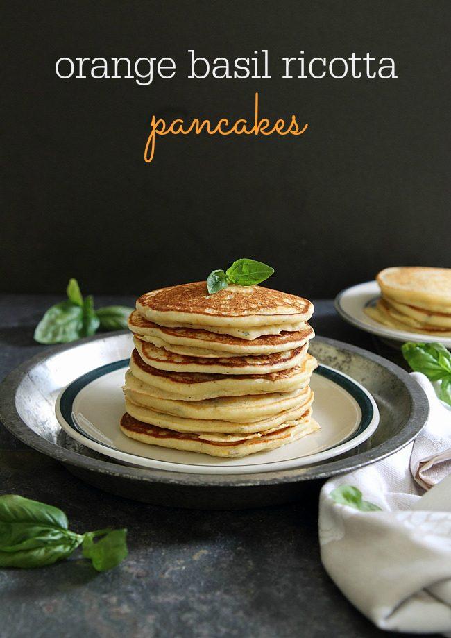 Orange basil pancake