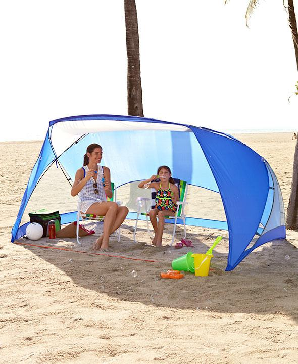 The Lakeside Collection easy-up 9'x6' sun shade
