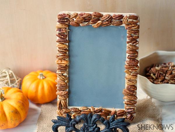 DIY pecans frame | SheKnows.com -- final result