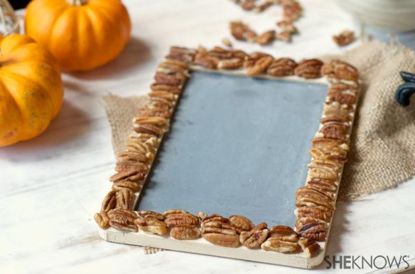 DIY pecans frame | SheKnows.com -- dry