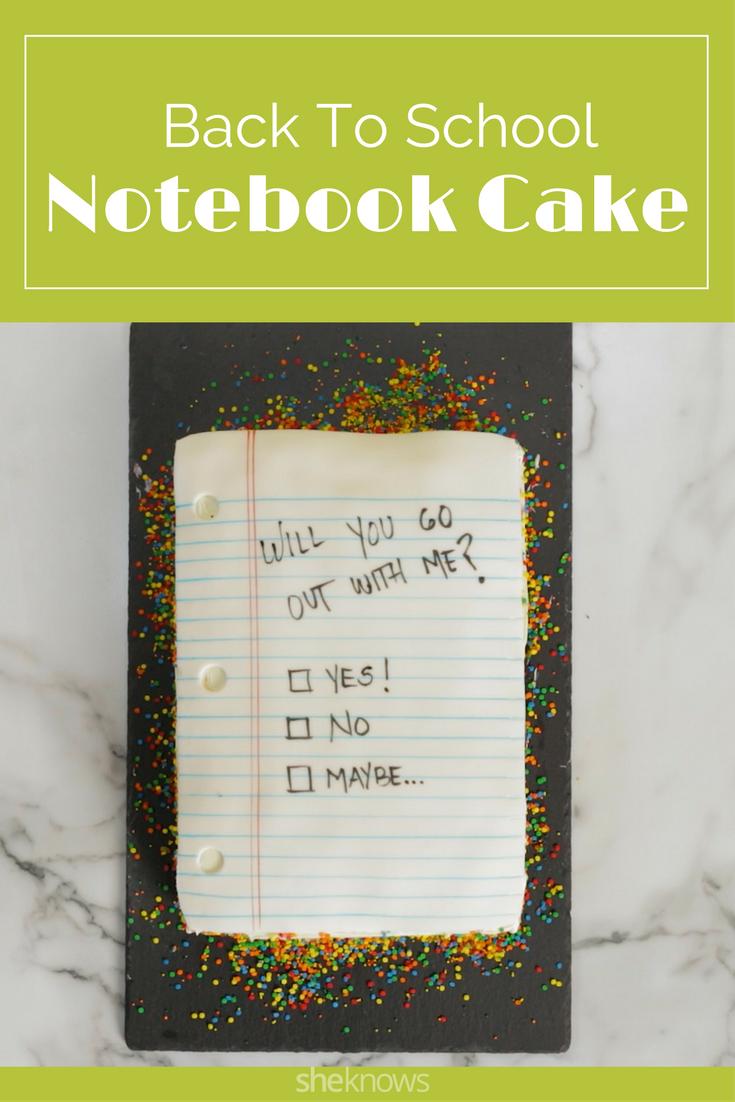 Notebook cake