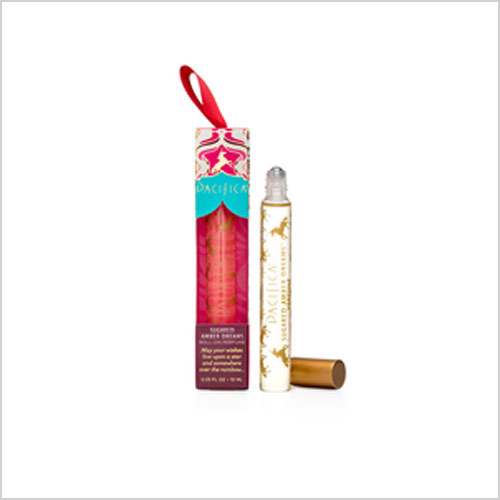 Pacifica Roll-On Ornament Stocking Stuffer in Sugared Amber Dreams