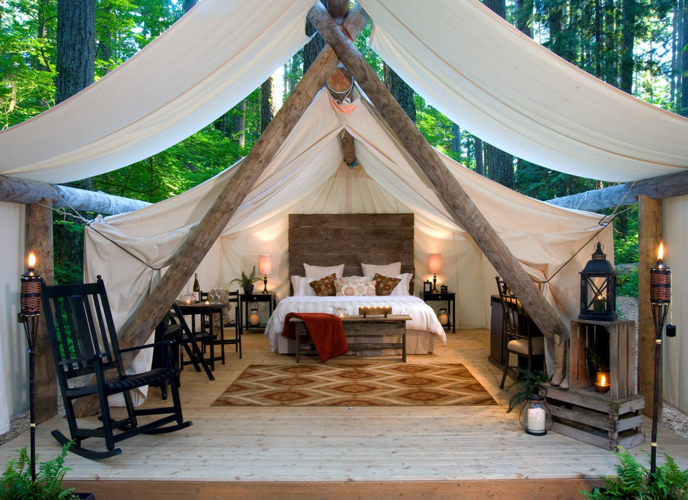 Crazy Beautiful Glampgrounds: Pampered Wilderness; Olympia, Washington | Summer Travel 2017