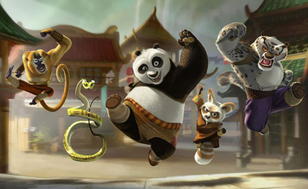 The cast of Kung Fu Panda gets ready to rock