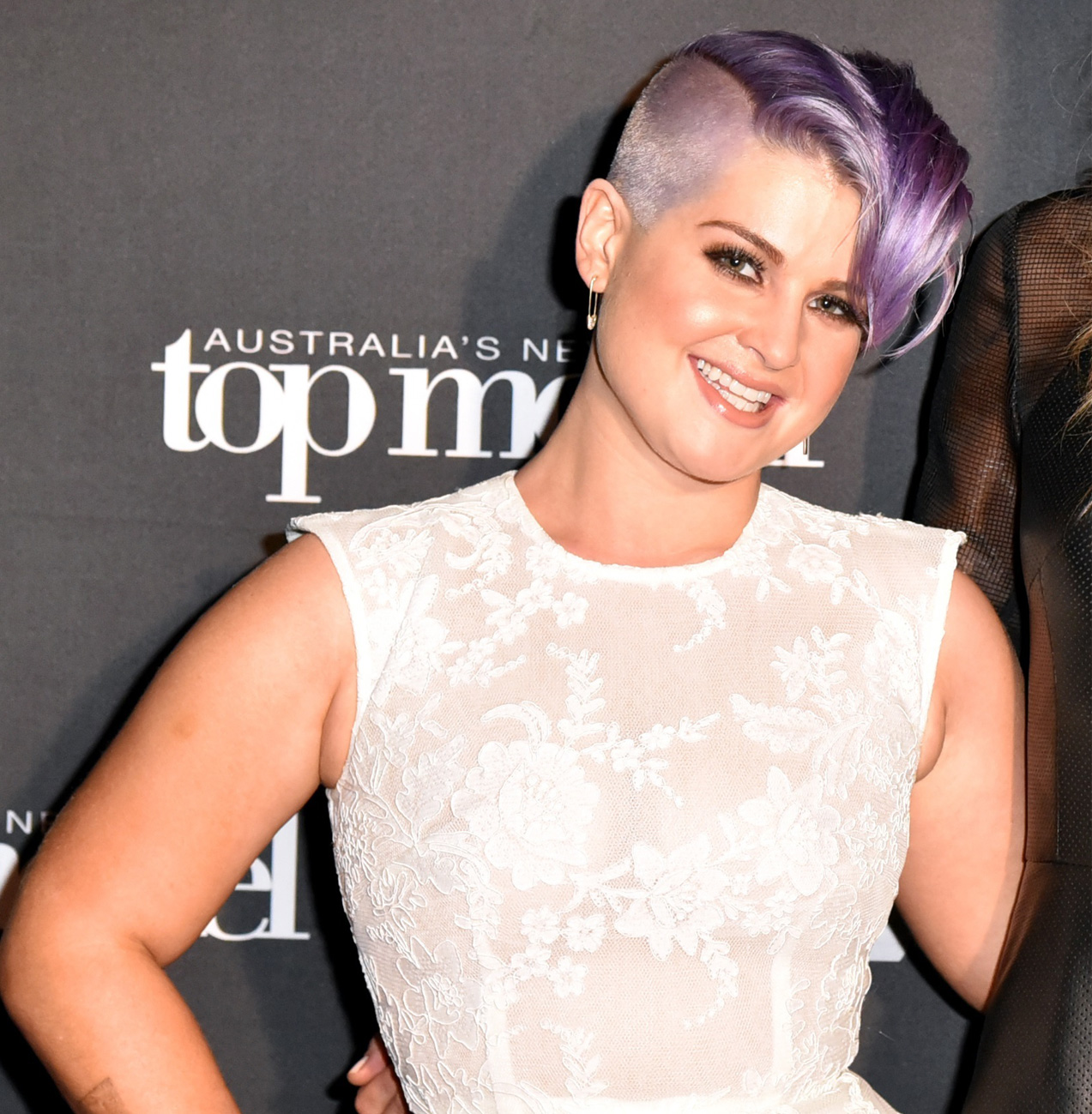 Partially-shaved head: Kelly Osbourne
