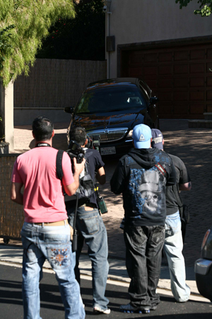 The scene outside Paula Abdul's home Nov. 12