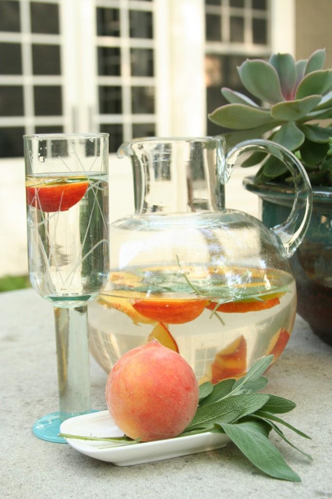 Peach sage water