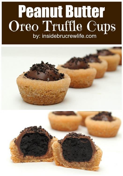 Peanut butter Oreo truffle cookie cups