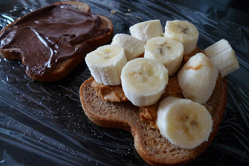 Chocolate, Peanut butter and Banana Sanger