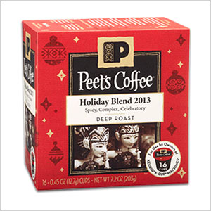 Peet's Holiday Blend 2013 Coffee Pods