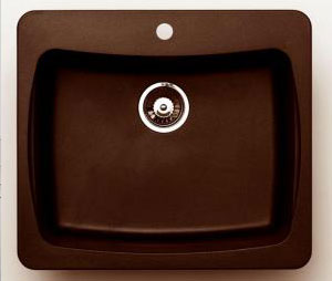 Single Bowl Kitchen Sink in metallic chocolate