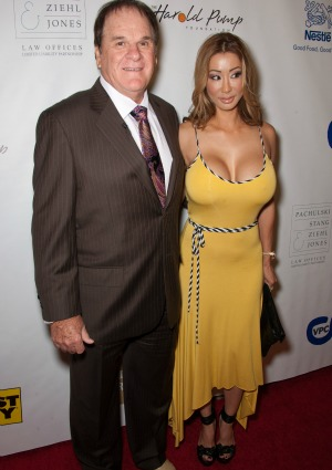 Pete Rose and fiancee Kiana Kim