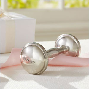 Pewter Dumbell Rattle