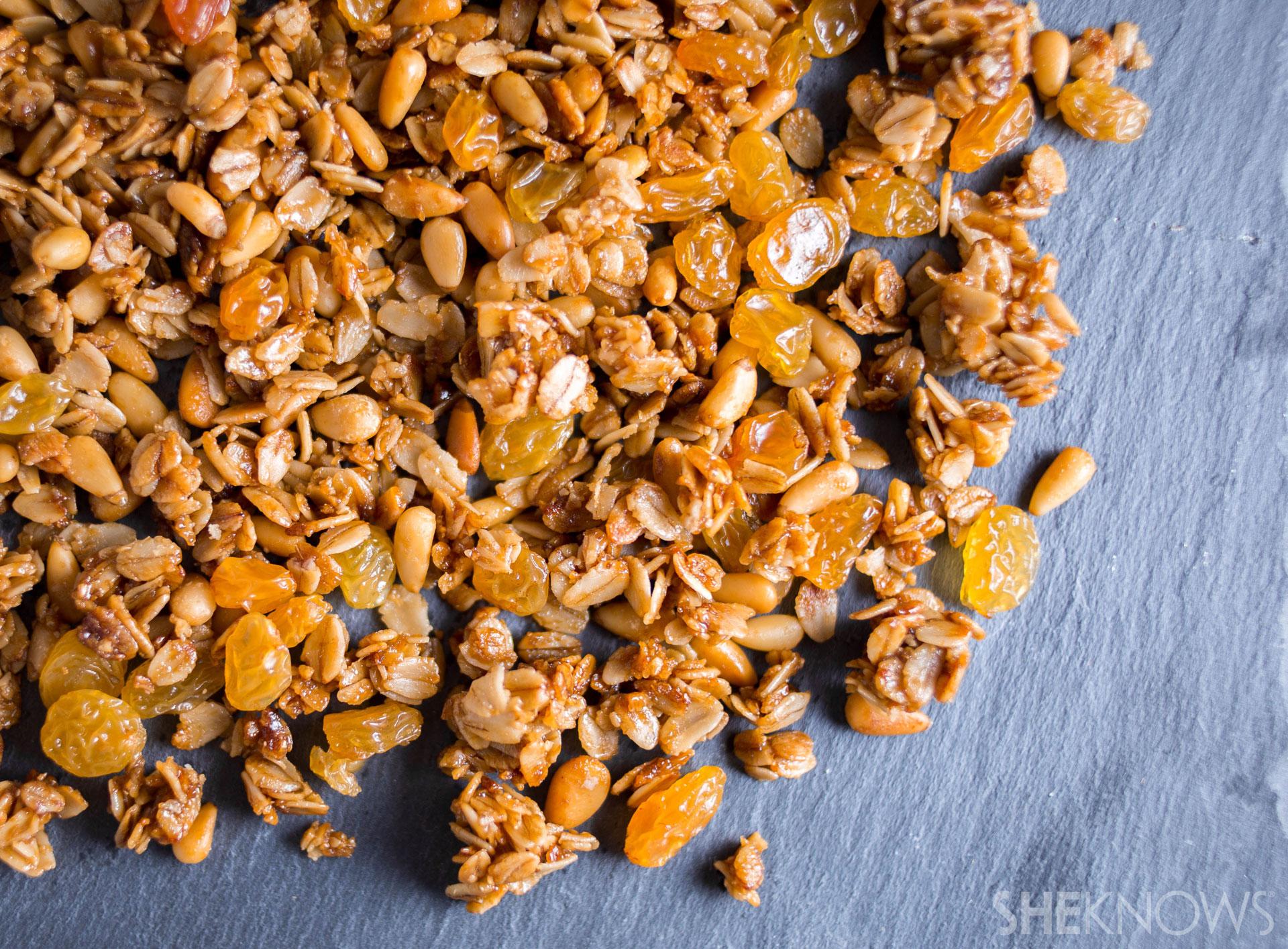 Pine Nut and Golden Raisin Granola