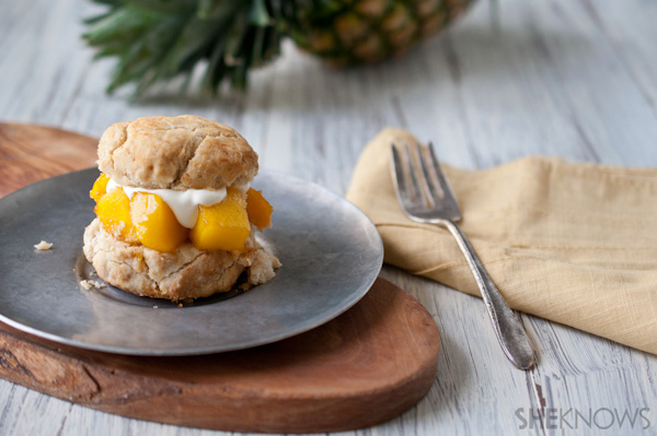 Caramelized Pineapple Shortcakes
