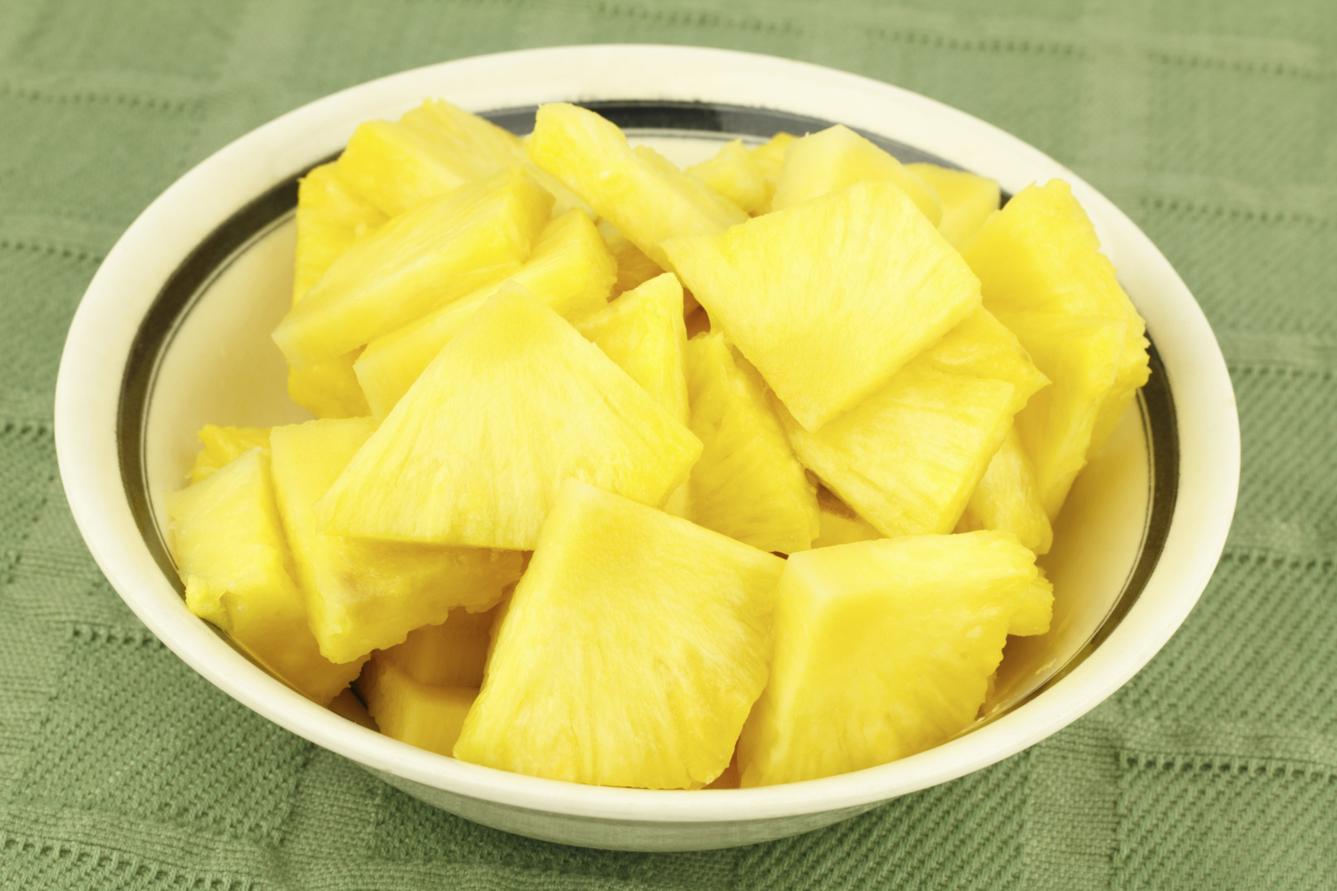 chopped pineapples
