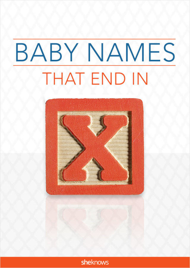 Baby names that end in x